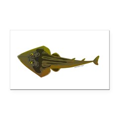Guitarfish Ray fish Rectangle Car Magnet