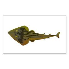 Guitarfish Ray fish Decal