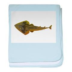 Guitarfish Ray fish baby blanket