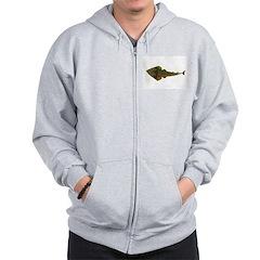 Guitarfish Ray fish Zip Hoodie