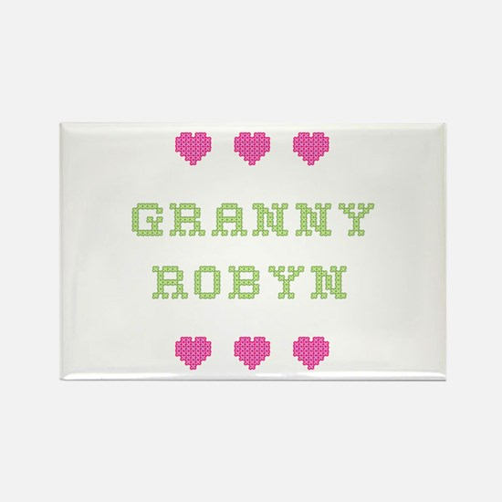 Granny Robyn Rectangle Magnet