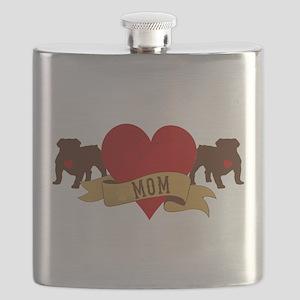 English Bulldog Mom Flask