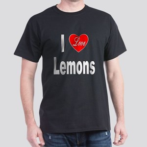 I Love Lemons (Front) Dark T-Shirt