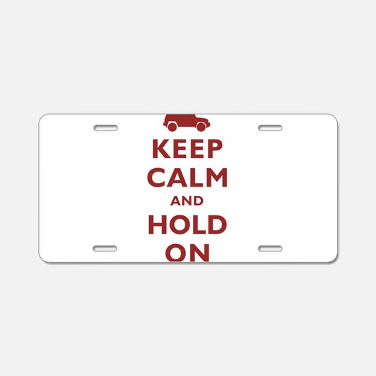 FJCruiser Keep Calm and Hold On Aluminum License P