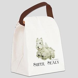 Super Sealyham Terrier Canvas Lunch Bag