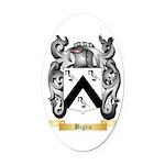 Biglio Oval Car Magnet