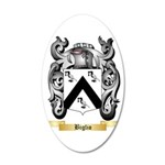 Biglio 35x21 Oval Wall Decal