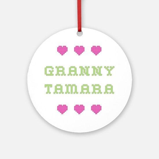 Granny Tamara Round Ornament