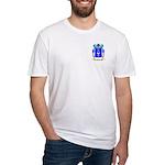 Biela Fitted T-Shirt