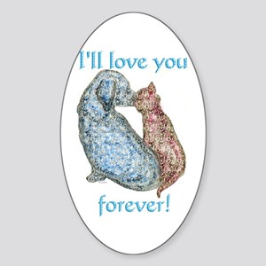 Love You Forever Oval Sticker