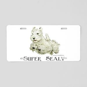 Super Sealyham Terrier Aluminum License Plate