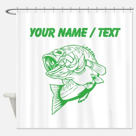 Custom Green Bass Shower Curtain
