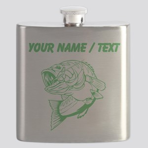 Custom Green Bass Flask