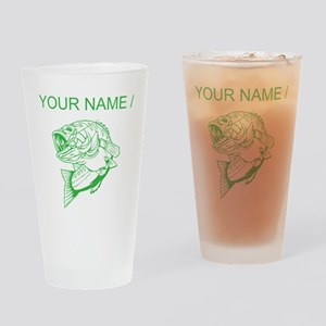 Custom Green Bass Drinking Glass