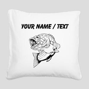 Custom Bass Square Canvas Pillow
