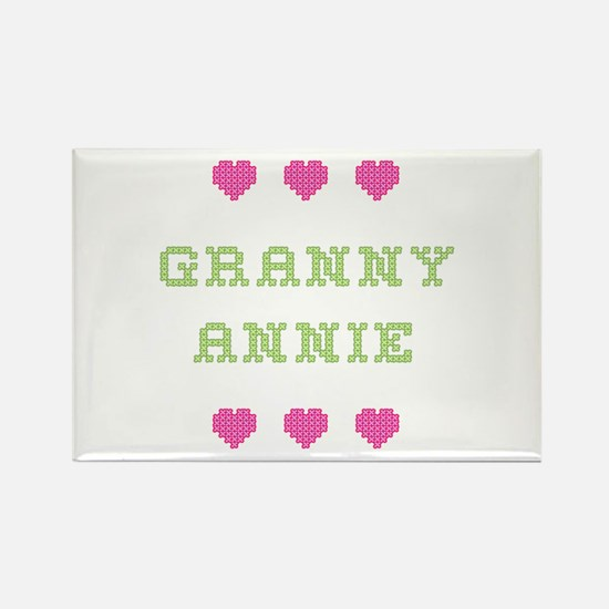 Granny Annie Rectangle Magnet