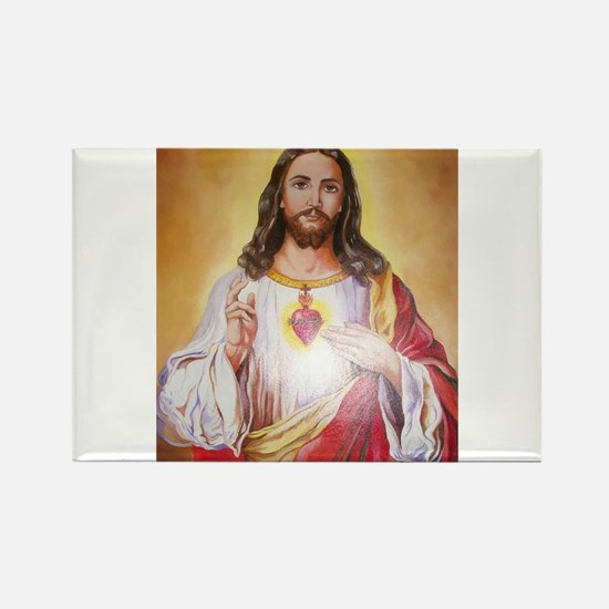 Scared Heart of Jesus Rectangle Magnet