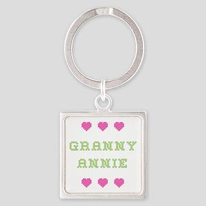 Granny Annie Square Keychain