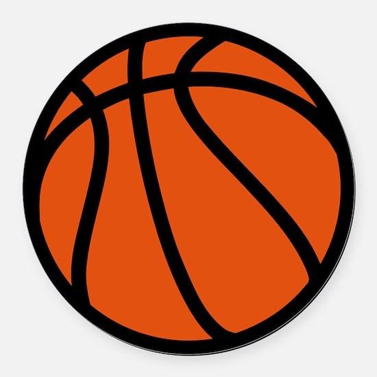 Basketball Round Car Magnet