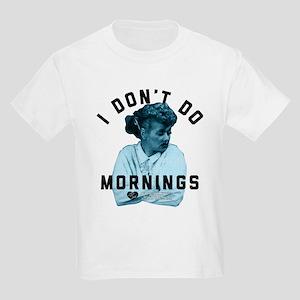 Lucy I Don't Do Mornings Kids Light T-Shirt