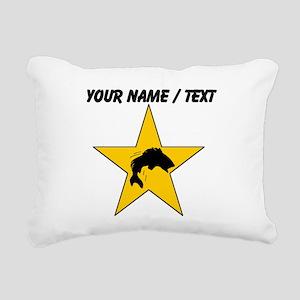 Custom Fishing Star Rectangular Canvas Pillow