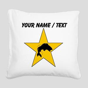 Custom Fishing Star Square Canvas Pillow