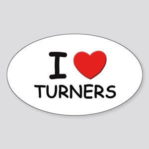 I Love turners Oval Sticker