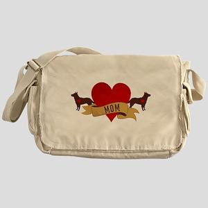 Cattle Dog Mom Messenger Bag