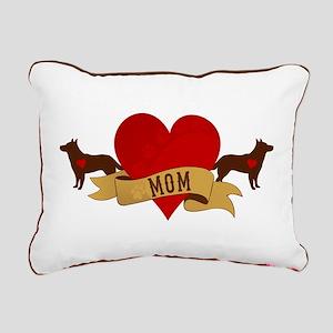 Cattle Dog Mom Rectangular Canvas Pillow
