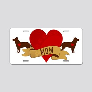 Cattle Dog Mom Aluminum License Plate