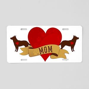 Cattle Dog Mom Aluminum License Plate