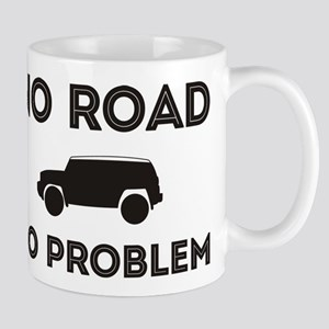 FJ Cruiser No road No Problem Small Mugs