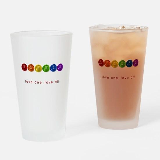 Pride Love Rocks Drinking Glass