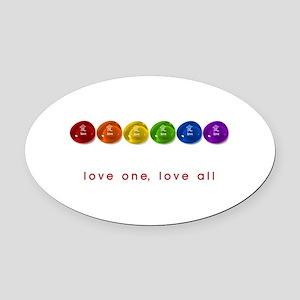 Pride Love Rocks Oval Car Magnet