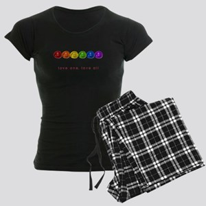 Pride Love Rocks Women's Dark Pajamas
