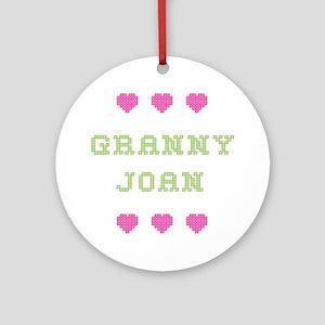 Granny Joan Round Ornament