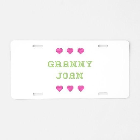 Granny Joan Aluminum License Plate