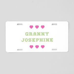 Granny Josephine Aluminum License Plate