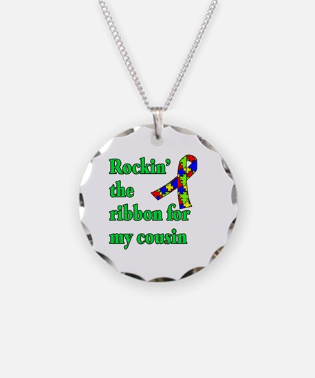 Autism Ribbon for My Cousin Necklace