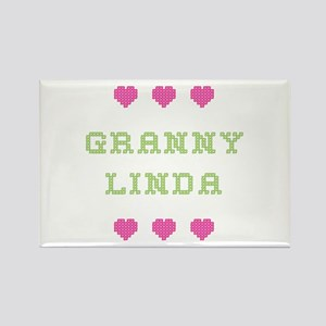 Granny Linda Rectangle Magnet
