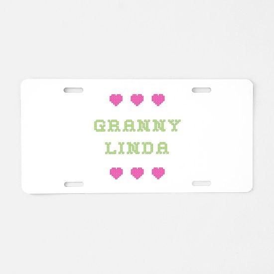 Granny Linda Aluminum License Plate