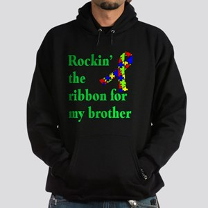 Autism Ribbon for My Brother Hoodie (dark)