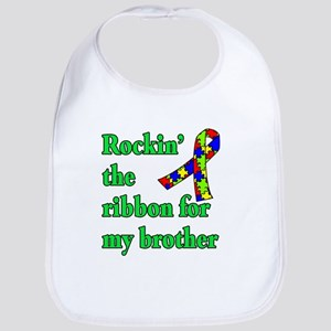Autism Ribbon for My Brother Bib