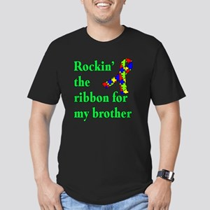 Autism Ribbon for My Brother Men's Fitted T-Shirt