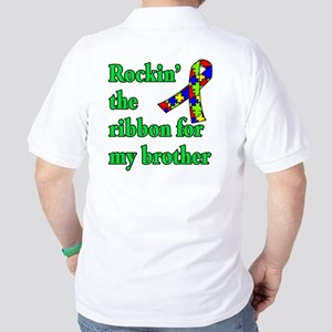 Autism Ribbon for My Brother Golf Shirt
