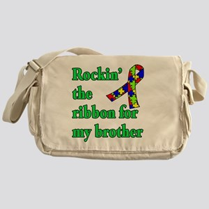 Autism Ribbon for My Brother Messenger Bag