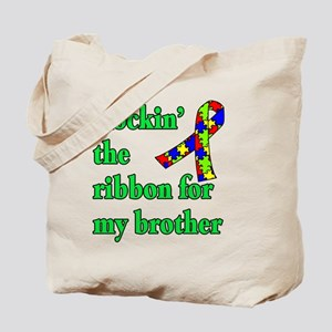 Autism Ribbon for My Brother Tote Bag