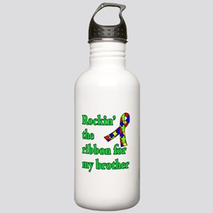 Autism Ribbon for My Brother Stainless Water Bottl