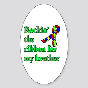 Autism Ribbon for My Brother Sticker (Oval)