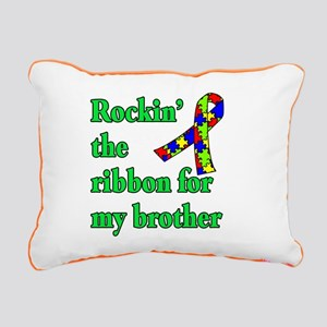 Autism Ribbon for My Brother Rectangular Canvas Pi